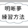 明晰夢(夢見術)の練習方法について:夢日記、二度寝 | ゲーマー逃避行ブログ
